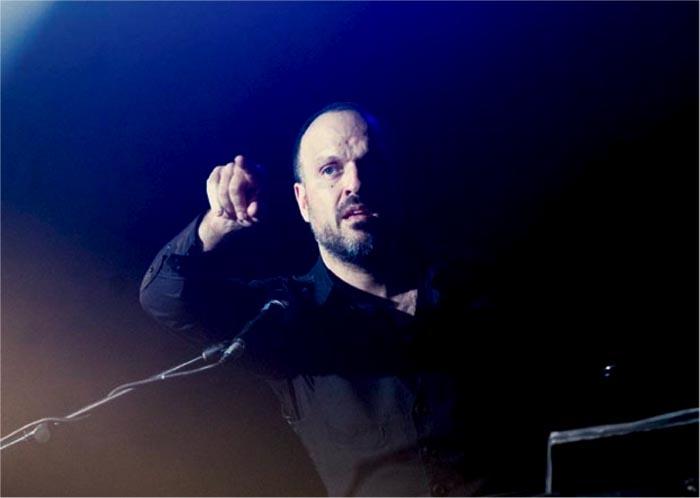Foto de Julio Tejera en un concierto