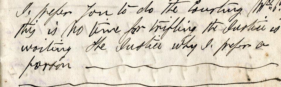Foto de un escrito antiguo a mano