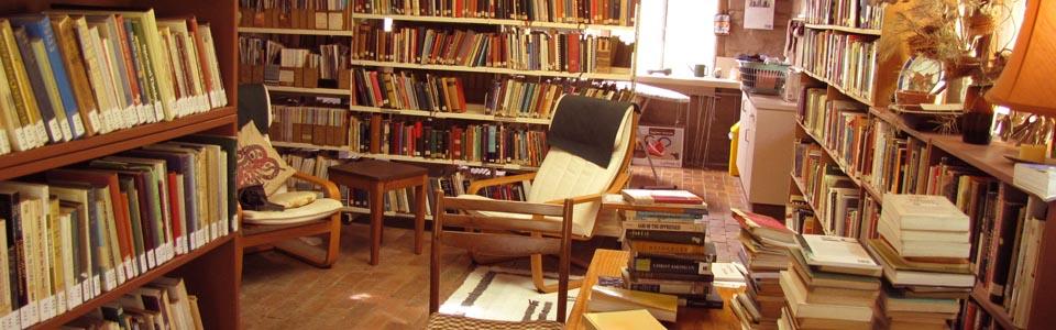 Foto de una librería particular