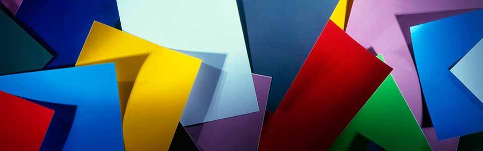 Foto de papeles de colores