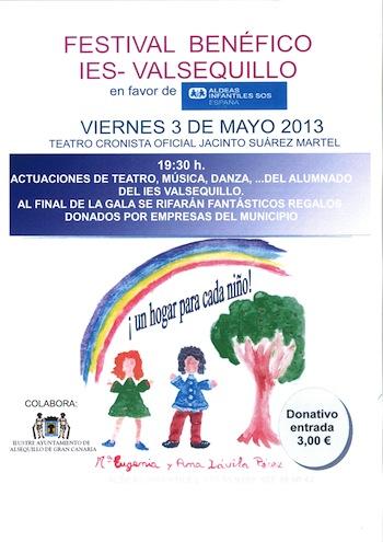 CARTEL Festival Benéfico Valsequillo Aldeas Infantiles