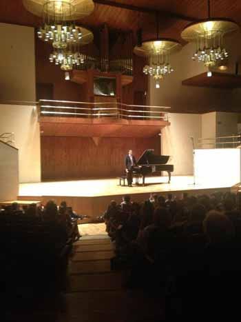 Javier Negrín en el Auditorio Nacional de Música de Madrid