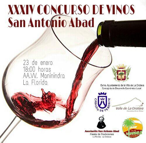 Cartel Concurso Vinos San Antonio Abad