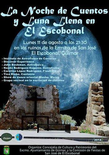 la noche de cuentos y luna llena