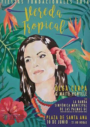 Olga Cerpa y Maité Hontelé protagonizan el espectáculo musical 'Vereda Tropical'
