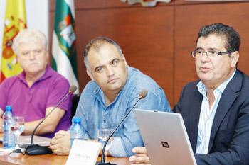 David Castellano, Yeray Rodríguez y Manuel Lobo