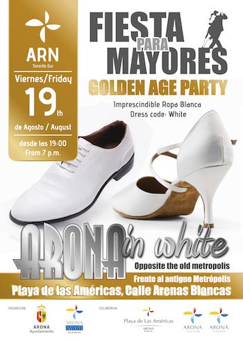 Arona in White, la primera fiesta sin fronteras para la tercera edad