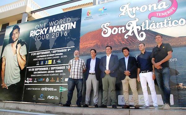 Arona se prepara para recibir a Ricky Martin con una de las producciones más grandes de la historia de Canarias