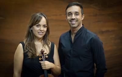 La violinista Irina Peña y el pianista Ignacio Clemente